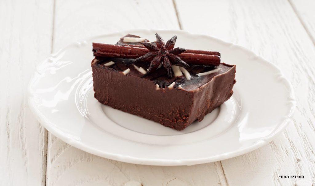 קינוח שוקולד ויין מצומצם מתובל