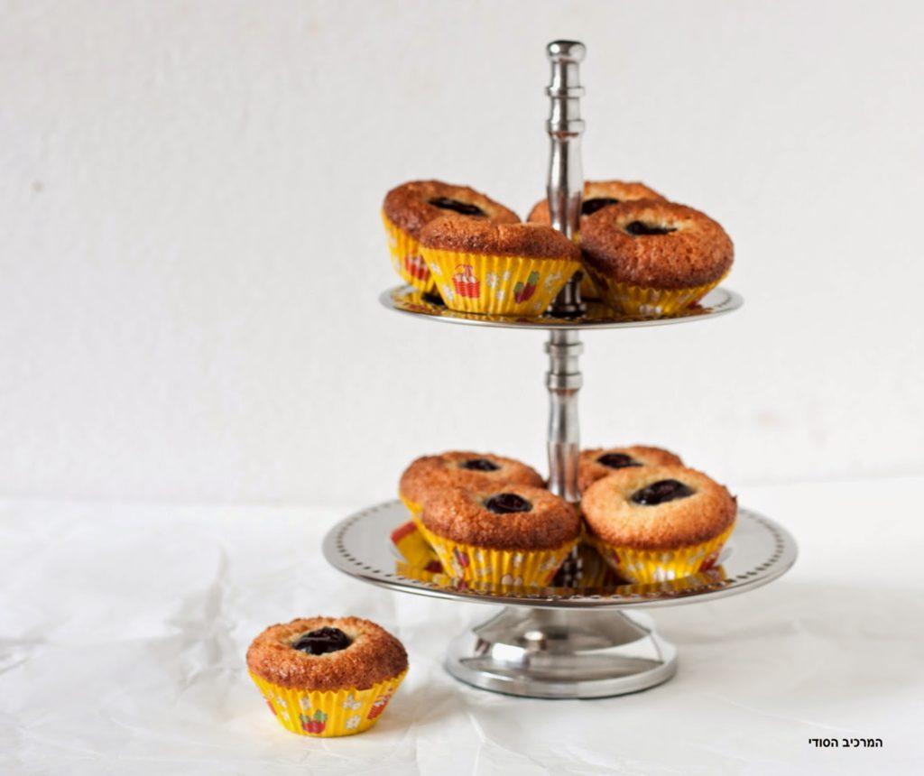 עוגיות קוקוס כשרות לפסח עם דובדבן אמרנה