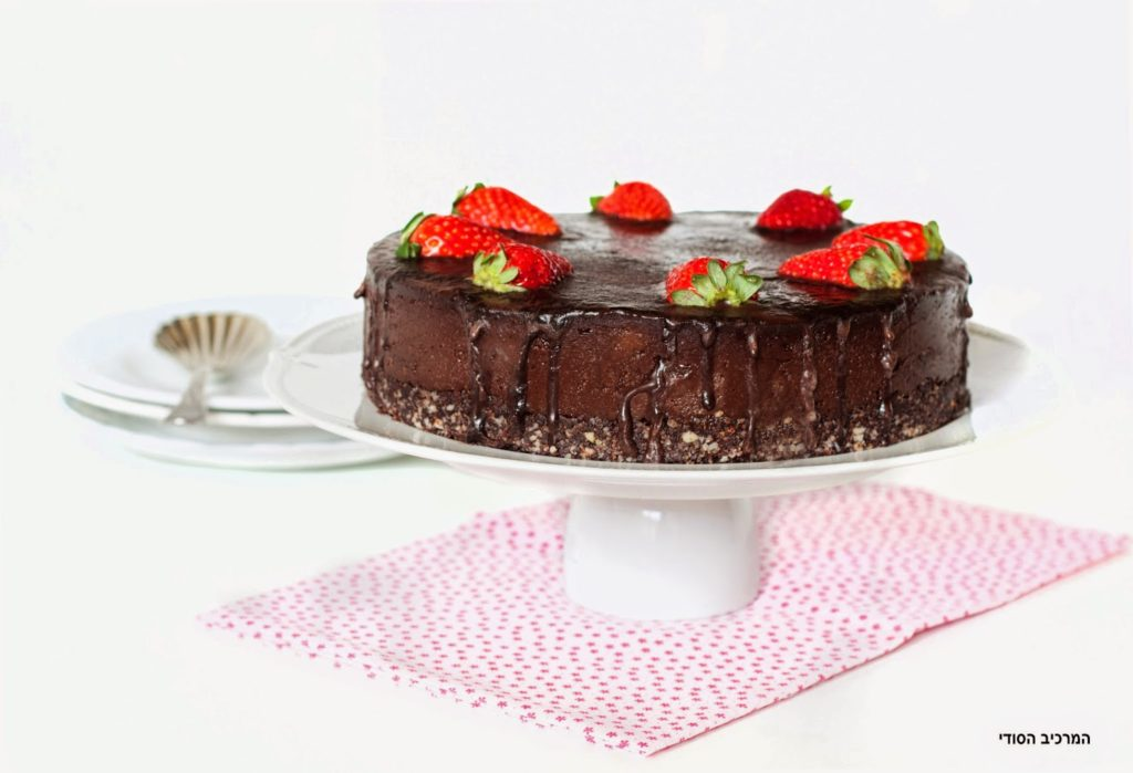 עוגת שוקולד טבעונית ללא אפייה