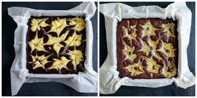 בראוניז שוקולד עם קרם לימון