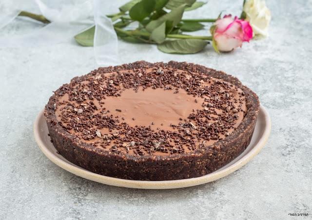 טארט שוקולד טבעוני ללא אפייה