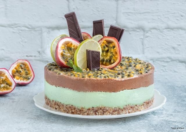 עוגת מוקה-ליים טבעונית