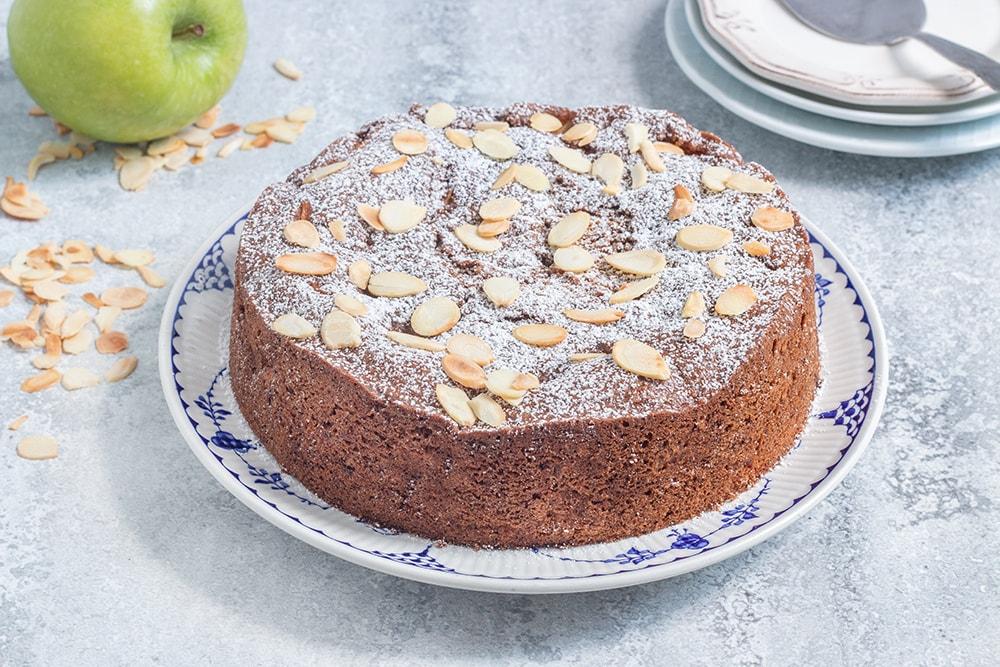 עוגת תפוחים טבעונית מתובלת