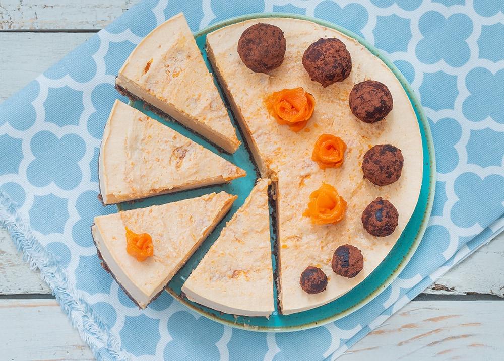 עוגת גבינה טבעונית עם דלעת