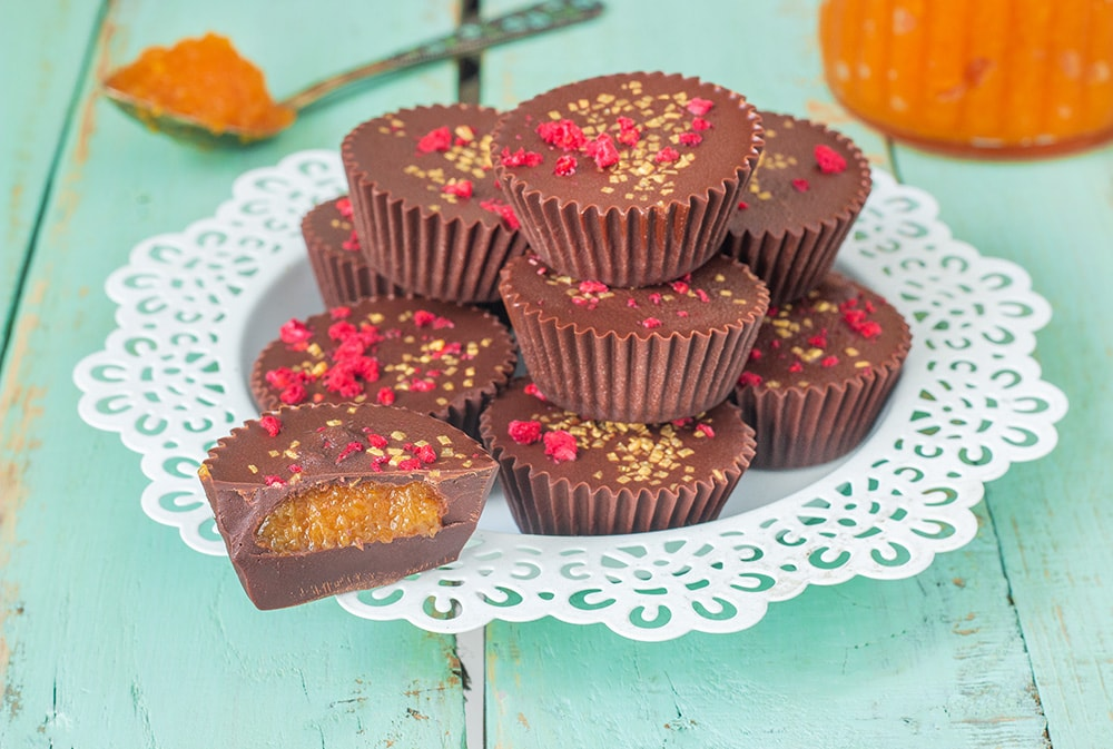 פרלין שוקולד טבעוני במילוי דלעת