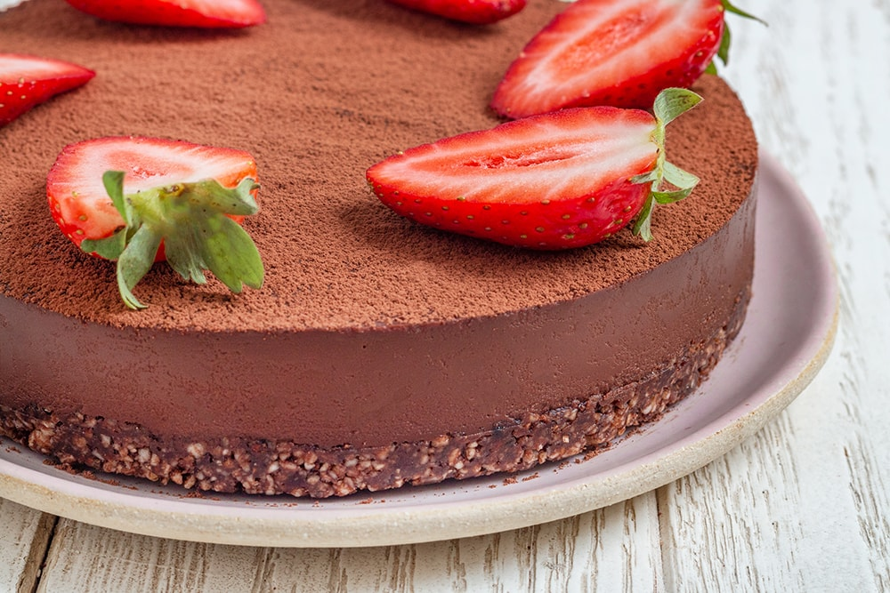עוגת טראפל שוקולד טבעונית (כשרה לפסח)