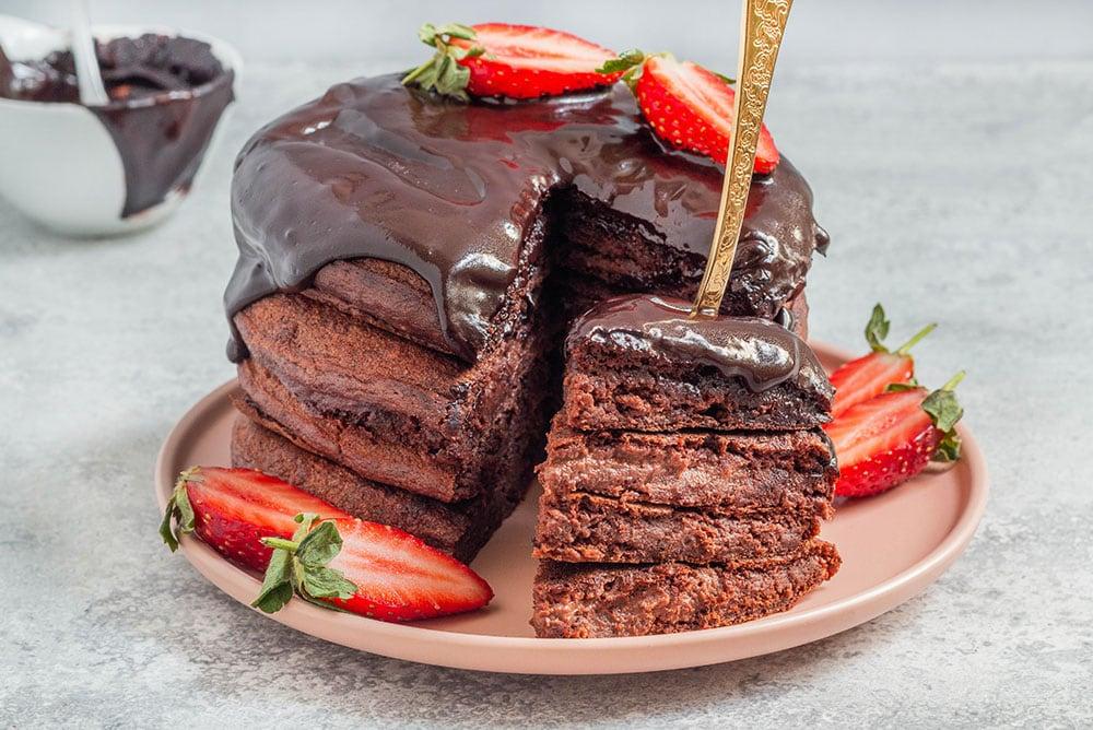 פנקייק שוקולד טבעוני מקמח כוסמין מלא