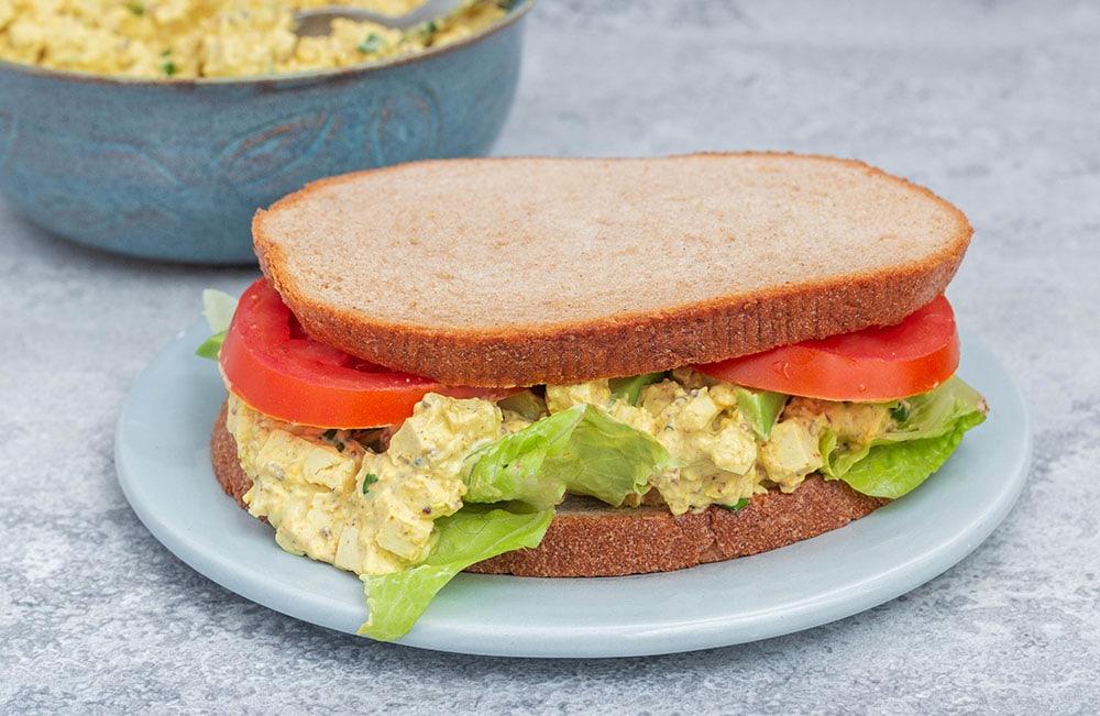 סלט ביצים טבעוני