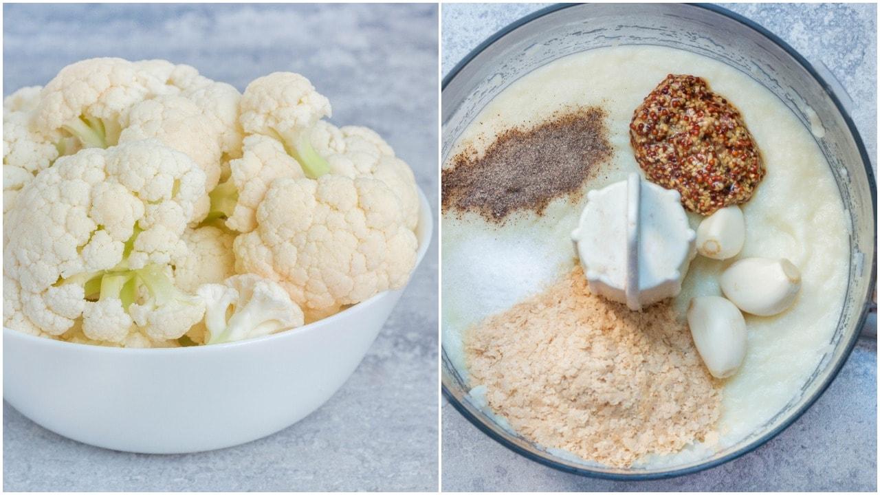 פסטה טבעונית ברוטב קרם כרובית ופטריות