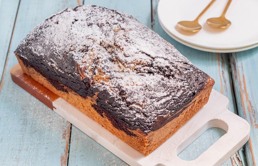 עוגת שיש טבעונית מקמח כוסמין בלי סוכר