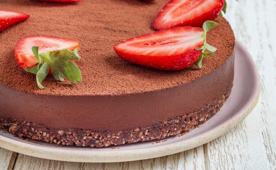 עוגת טראפל שוקולד טבעונית_מקרוב_1000