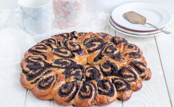 עוגת שמרים עם פרג